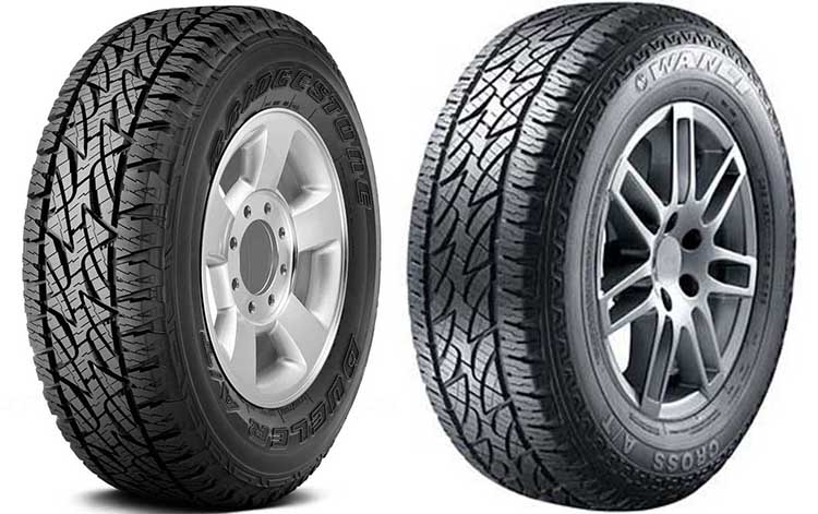 Bridgestone Dueler A/T Revo 2 и Wanli Cross A/T C069